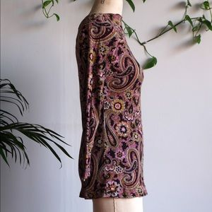 VINTAGE Perfect Paisley Flower Power Top